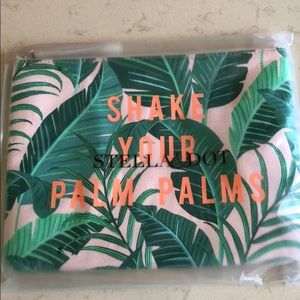 Stella & Dot All In Pouch - Shake Your Palm Palms